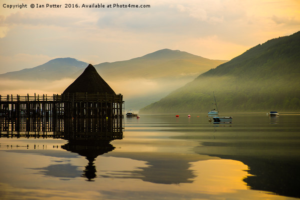 The Loch Tay Crannog Canvas print by Ian Potter