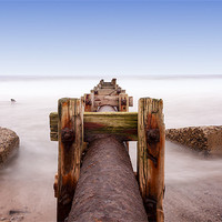 Buy canvas prints of Old Pipe at Blyth by Tom Hibberd