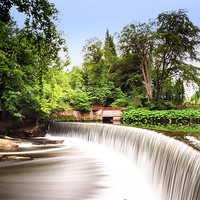 Buy canvas prints of Guyuzance Weir, Northumberland by Tom Hibberd