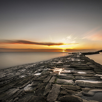Buy canvas prints of  Sunrise over Cullercoats by Tom Hibberd