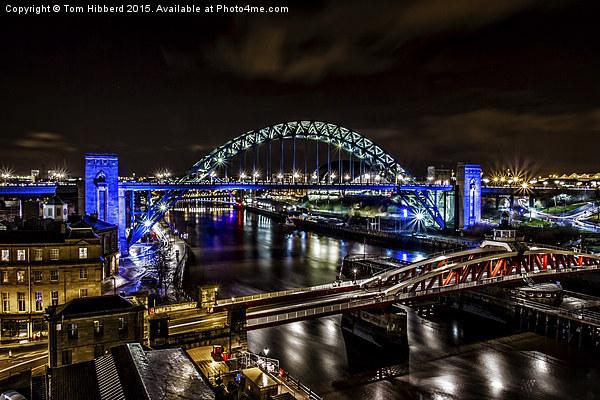 Tyne Bridge and the River Tyne, Newcastle Canvas print by Tom Hibberd