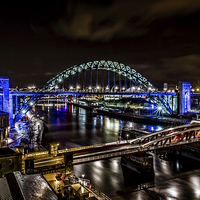 Buy canvas prints of  Tyne Bridge and the River Tyne, Newcastle by Tom Hibberd