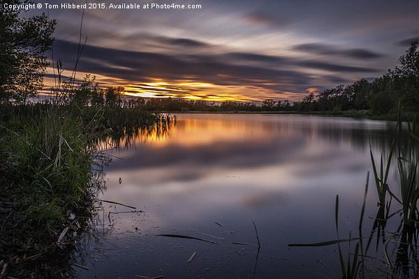Sunset across Big Water Lake Canvas print by Tom Hibberd