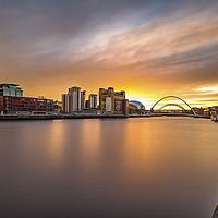 Buy canvas prints of Quayside Sunset by Tom Hibberd
