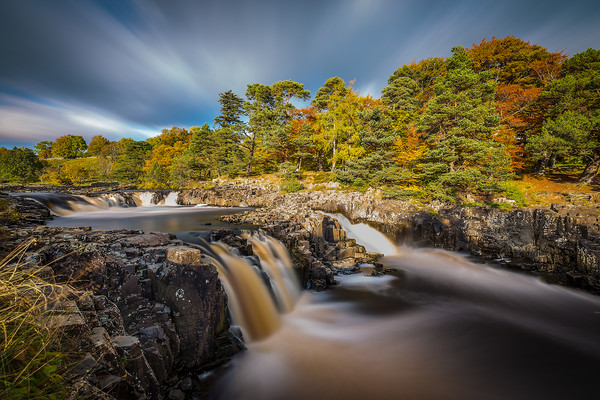Low Force waterfall, Teesdale Canvas print by Tom Hibberd