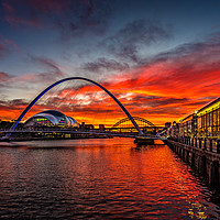 Buy canvas prints of sunset view from Quayside, Newcastle Upon Tyne by Tom Hibberd