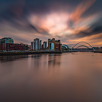 Buy canvas prints of Cloud explosion over Quayside Newcastle Upon Tyne by Tom Hibberd