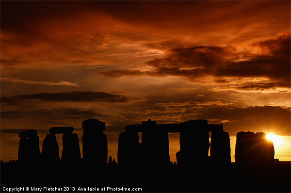 Evening at Stonehenge Canvas print by Mary Fletcher
