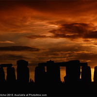 Buy canvas prints of Evening at Stonehenge by Mary Fletcher