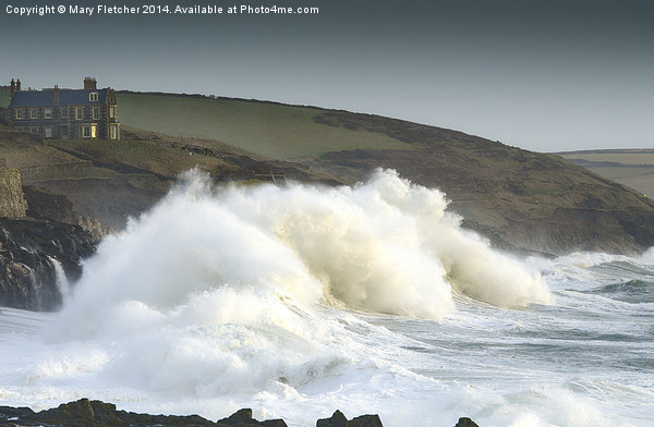 Stormy Seas in Cornwall Canvas print by Mary Fletcher