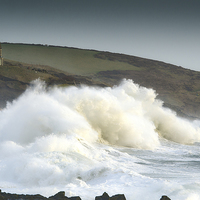 Buy canvas prints of Stormy Seas in Cornwall by Mary Fletcher