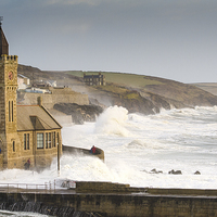 Buy canvas prints of Porthleven Storm by Mary Fletcher