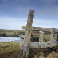 Buy canvas prints of  Ye Olde Wooden Bench by Mary Fletcher