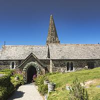 Buy canvas prints of St Enodoc Church, Trebetherick by Mary Fletcher