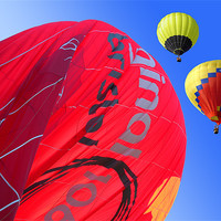 Buy canvas prints of Balloon landing by Peter Cope