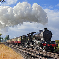 """Buy canvas prints of """"Morayshire"""" with an early morning passenger train by Ian Duffield"""