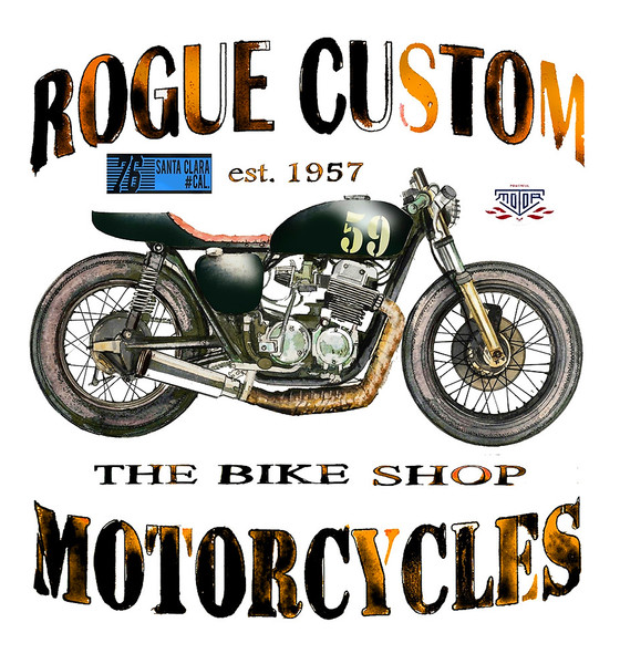 Rogue Custom Motorcycles  Canvas print by John Lowerson