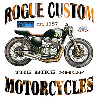Buy canvas prints of Rogue Custom Motorcycles  by John Lowerson