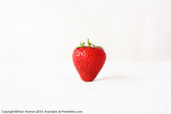 One Red Strawberry Canvas print by Alan Harman