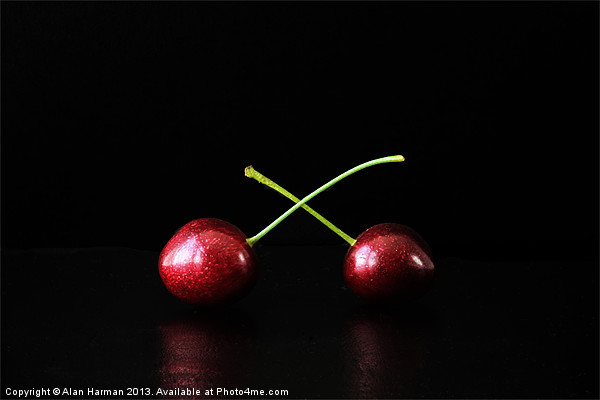 Two Cherries Canvas print by Alan Harman