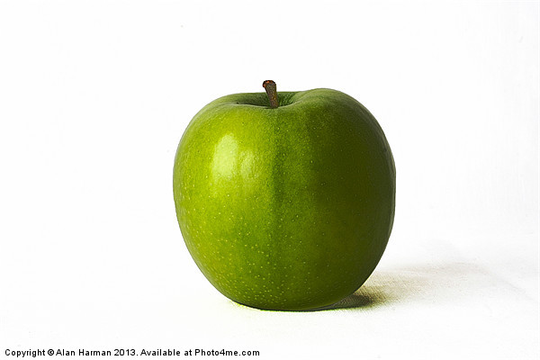 Green Apple Canvas Print by Alan Harman