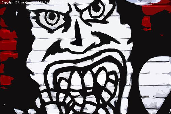 Graffiti 16 Canvas print by Alan Harman