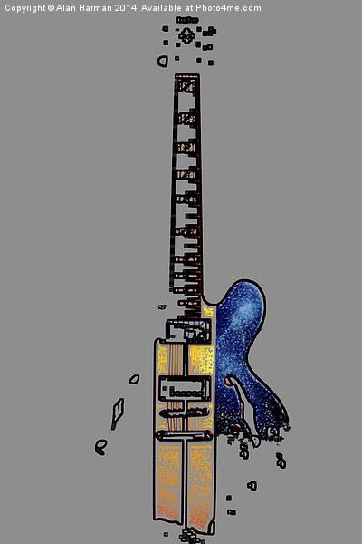 Guitar 4 Canvas print by Alan Harman