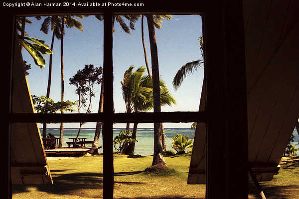 Tropical Fiji Beach Scene Canvas print by Alan Harman