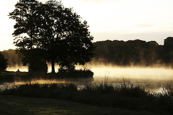 Morning Lake Scene Canvas print by Alan Harman