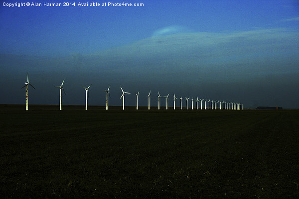 Windfarm Canvas Print by Alan Harman