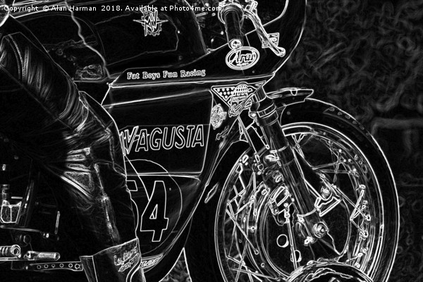 Motorcycle 1 Canvas print by Alan Harman