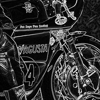 Buy canvas prints of Motorcycle 1 by Alan Harman
