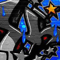 Buy canvas prints of Graffiti 3 by Alan Harman