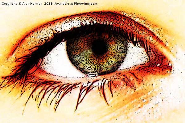 Eye Canvas print by Alan Harman