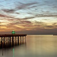 Buy canvas prints of SUNSET AT HERNE BAY KENT UK by Robert  Radford