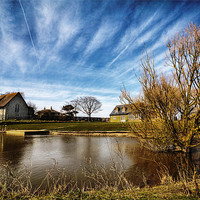 Buy canvas prints of Harty Church Isle of Sheppey Kent by Robert  Radford