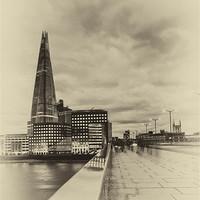 Buy canvas prints of SHARD LONDON by Robert  Radford