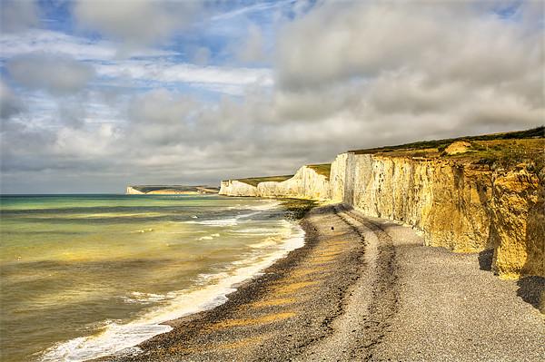 Birling Gap Eastbourne Sussex Canvas Print by Robert  Radford