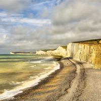 Buy canvas prints of Birling Gap Eastbourne Sussex by Robert  Radford