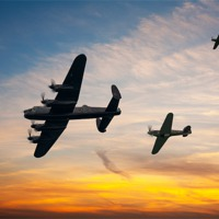 Buy canvas prints of Battle of Britain Sunset by Robert  Radford