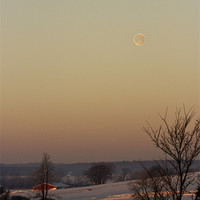 Buy canvas prints of Winter Moon by Larry Pegram