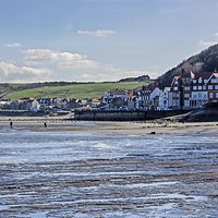 Buy canvas prints of Sandsend From The Beach by keith  sayer