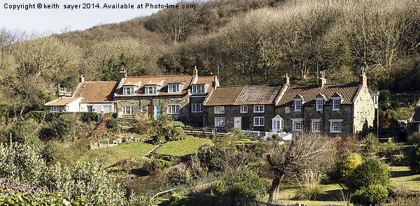 Cottages At Sandsend North Yorkshire Canvas Print by keith  sayer