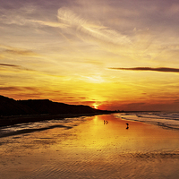 Buy canvas prints of Saltburn Beach Sunset by keith  sayer