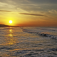 Buy canvas prints of Golden Glow Saltburn by keith  sayer
