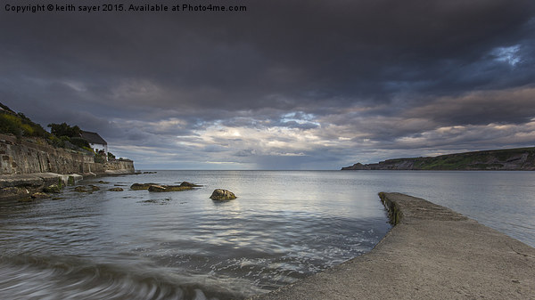 Tranquil Runswick Bay Canvas print by keith sayer