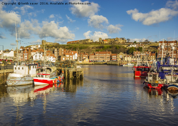 Whitby Harbour Canvas print by keith sayer