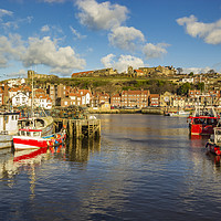 Buy canvas prints of Whitby Harbour by keith sayer