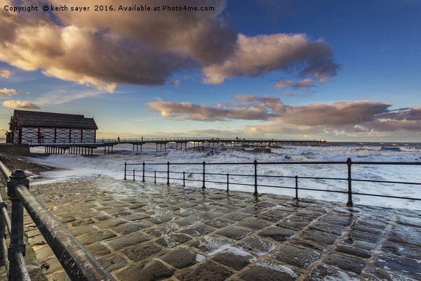 Saltburn Pier Canvas print by keith sayer