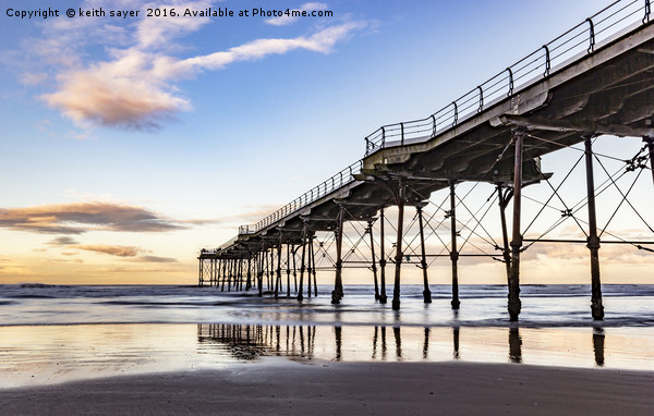 Saltburn in the afternoon light  Canvas print by keith sayer